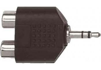 Proel AT128 - 2xRCA (Dişi) - 3.5 mm. Stereo (Erkek)