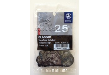 Planet Waves Celluloid Pearl Pick Medium - 1CBKP4-25 - 25 Adet - Pena