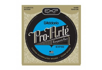 D'Addario EXP46 Coated, Hard Tension Takım Tel - Klasik Gitar Teli