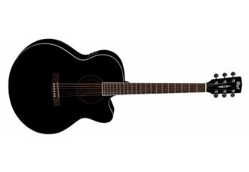 Cort CJ1F BK - Siyah - Jumbo Elektro Akustik Gitar