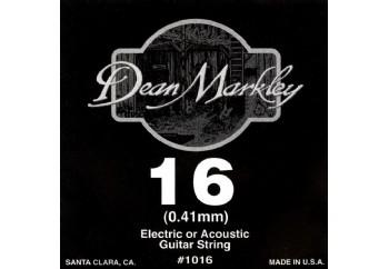 Dean Markley Nickel Plain Single 016 Tek Tel