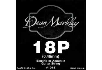 Dean Markley Nickel Plain Single 018 Tek Tel - Akustik ve Elektro Gitar Tek Tel