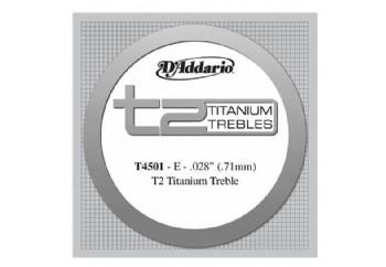 D'Addario T2 Titanium Normal Single String T4501 - mi Tek Tel - Klasik Gitar Tek Tel