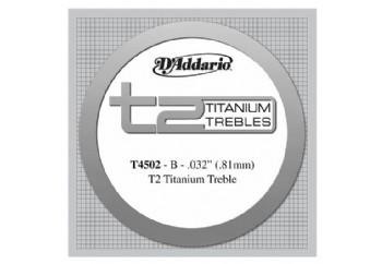 D'Addario T2 Titanium Normal Single String T4502 - si Tek Tel - Klasik Gitar Tek Tel