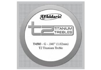 D'Addario T2 Titanium Normal Single String T4503 - Sol Tek Tel - Klasik Gitar Tek Tel
