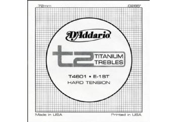 D'Addario T2 Titanium Hard Single T4601 - mi - Tek Tel - Klasik Gitar Tek Tel