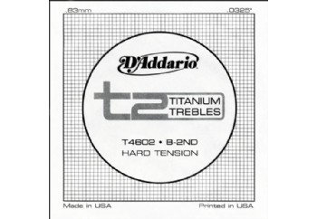 D'Addario T2 Titanium Hard Single T4602 - si - Tek Tel