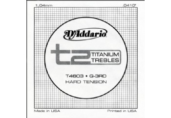 D'Addario T2 Titanium Hard Single T4603 - Sol - Tek Tel