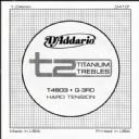 D'Addario T2 Titanium Hard Single