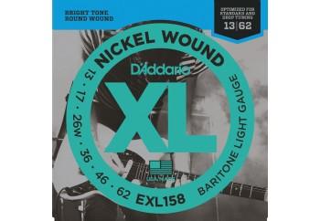 D'Addario EXL158 Nickel Wound, Baritone Light, 13-62 Takım Tel - Elektro Gitar Teli 013-062