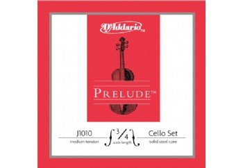 D'Addario J1010 Prelude 3/4 Cello Strings Medium Takım Tel - Çello Teli 3/4