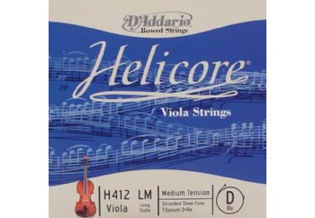 D'Addario Helicore Viola Long Scale Medium Tension H412LM - D (Re) Teli - Tek Tel