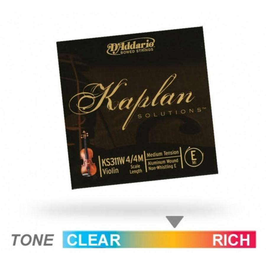 Daddario Kaplan Solutions Violin E String