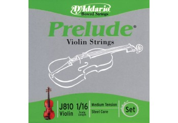 D'Addario Prelude Violin 1/16 Scale Medium Tension Takım Tel