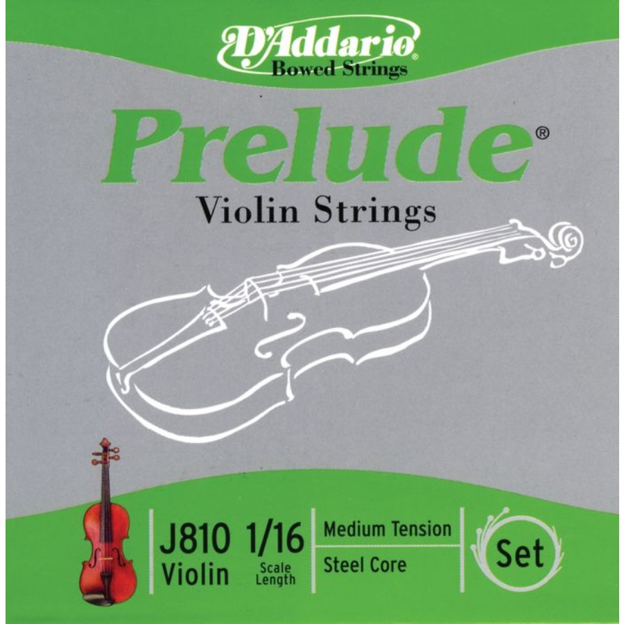 D'Addario Prelude Violin 1/16 Scale Medium Tension