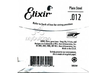 Elixir Plain Single 012 Tek Tel