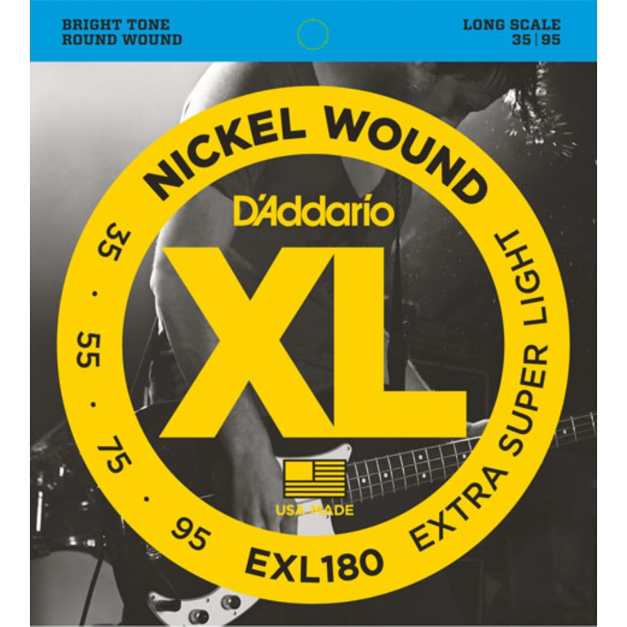D'Addario EXL180 Nickel Wound Bass, Extra Super Light, Long Scale