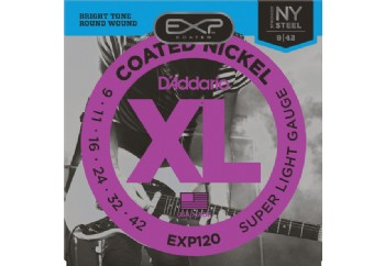 D'Addario EXP120 Coated Nickel Wound, Super Light, 9-42 Takım Tel - Elektro Gitar Teli 009-042