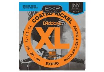 D'Addario EXP110 Coated Nickel Wound, Light, 10-46 Takım Tel - Elektro Gitar Teli 010-046