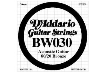 D'Addario EJ10 80/20 Bronze Acoustic Guitar Strings, Extra Light BW030- Re Tek Tel - Akustik Gitar Teli 010-047