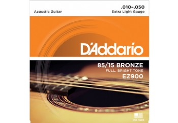 D'Addario EZ900 - Extra Light 010-050 Takım Tel - Akustik Gitar Teli