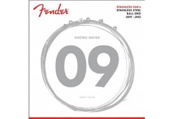 Fender 350L Stainless Steel Light Takım Tel - Elektro Gitar Teli 009-042