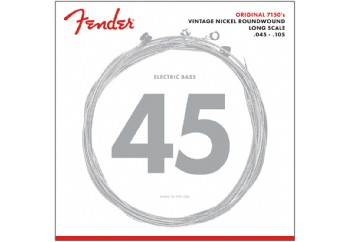 Fender 7150M Pure Nickel Long Scale Medium Takım Tel - Bas Gitar Teli 045-105