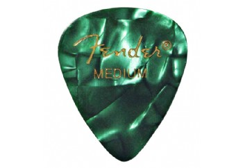 Fender 351 Premium Celluloid Picks Green Moto - Medium - 1 Adet - Pena