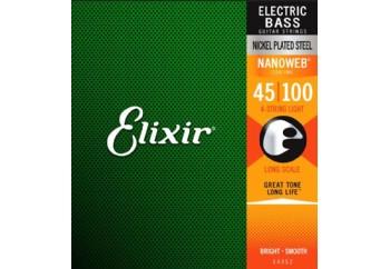 Elixir 14052 Light Takım Tel - Bas Gitar Teli 045-100