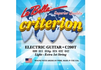 La Bella C200T Light Takım Tel - Elektro Gitar Teli  009-042