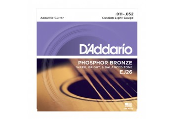 D'Addario EJ26 Phosphor Bronze, Custom Light, 11-52 Takım Tel - Akustik gitar teli 011-052