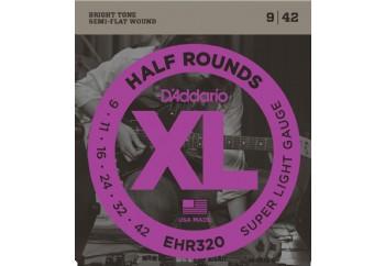 D'Addario EHR320 Half Rounds, Super Light, 9-42 Takım Tel - Elektro gitar teli 009-042