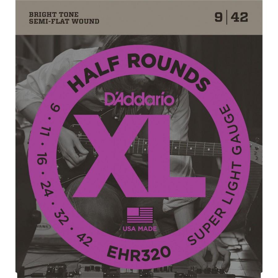 D'Addario EHR320 Half Rounds, Super Light, 9-42