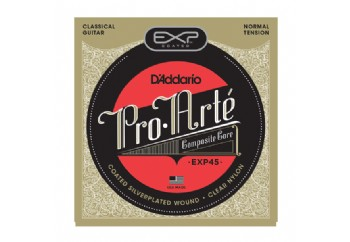 D'Addario EXP45 Coated, Normal Tension Takım Tel - Klasik Gitar Teli
