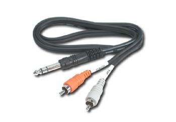 Hosa Technology TRS-202  TRS-202 - 2 metre - 6.35 mm. Stereo (Erkek) - 2xRCA (Erkek)