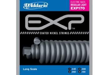 D'Addario EXP170 Coated Nickel Wound Bass, Light, 45-100, Long Scale Takım Tel - Bas Gitar Teli 045-100