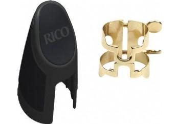 Rico Royal H Ligature & Cap Set Alto Sax HAS1G - Gold - Alto Saksofon Ligatür&Kapak