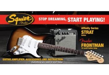 Squier Affinity Strat with Fender Frontman Amp SSS Brown Sunburst