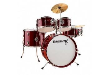 Ludwig LJR106 Junior Drum Kit Metalik Şarap Kırmızısı