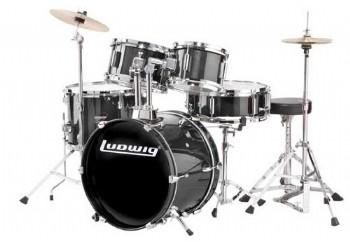 Ludwig LJR106 Junior Drum Kit Metalik Siyah
