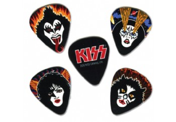 Planet Waves Kiss Rock and Roll Over Picks 10 Adet - Medium - Pena