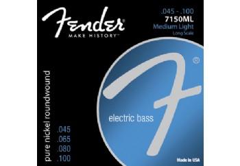 Fender 7150ML Pure Nickel Long Scale Medium Light Takım Tel - Bas Gitar Teli 045-100