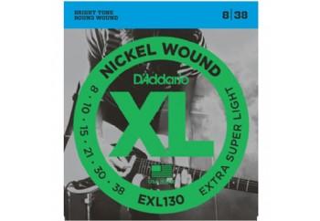 D'Addario EXL130 Nickel Wound, Extra-Super Light Takım Tel - Elektro Gitar Teli 008-038