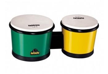 Nino 19 ABS Bongos Green/Yellow - Çocuklar İçin Bongo
