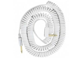 Vox Vintage Coiled Cable Beyaz - Enstrüman Kablosu (9m)
