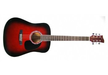 Jay Turser JJ45 Acoustic Guitar Starter Pack RSB - Red Sunburst - Akustik Gitar Seti