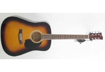 Jay Turser JJ45 Acoustic Guitar Starter Pack TSB - Tobacco Sunburst - Akustik Gitar Seti