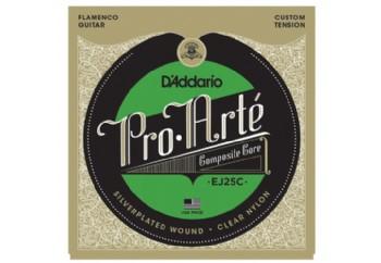D'Addario EJ25C Pro-Arté Clear Nylon Composite, Flamenco Takım Tel - Flamenko Gitar Teli