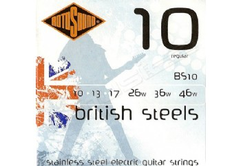 Rotosound BRITISH STEELS BS10 Regular Takım Tel - Elektro Gitar Teli 010-046