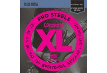 D'Addario EPS170-6SL ProSteels 6-String Bass, Light, 30-130, Super Long Scale Takım Tel - 6 Telli Bas gitar teli 032-130